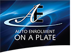 AE on a plate logo